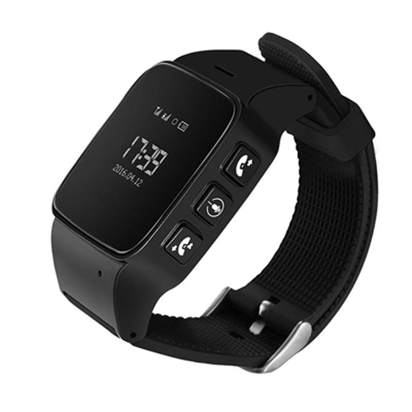 Cмарт-часы  с GPS трекером и телефоном JETIX D99 Black для детей, подростков и взрослых