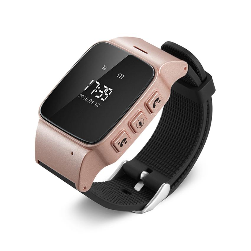 Cмарт-часы  с GPS трекером и телефоном JETIX D99 Pink для детей, подростков и взрослых