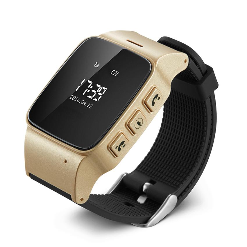 Cмарт-часы  с GPS трекером и телефоном JETIX D99 Gold для детей, подростков и взрослых